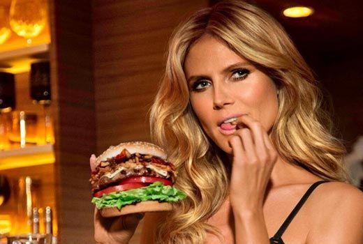 Heidi and a burger